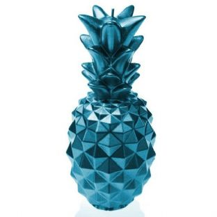 Candellana - Pineapple Candle - Metallic Blue
